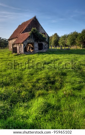 old house in Normandy, France - stock photo