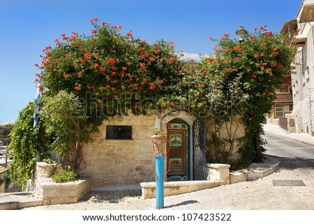 old house in Safed in which  lived and worked for an Israeli artist Moshe Castel, Upper Galilee, Israel - stock photo