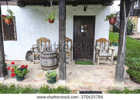 Old house in Serbia - stock photo