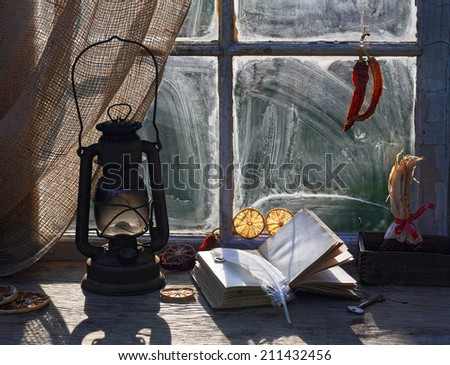 Old house in the morning - stock photo