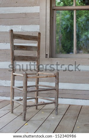 Old house with an old chairs - stock photo