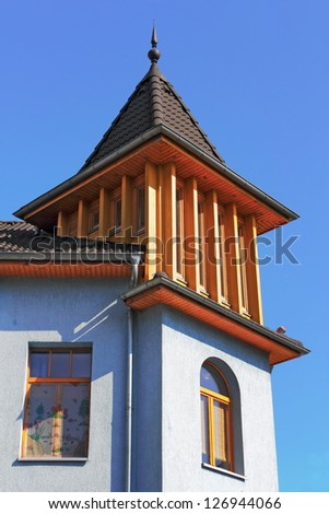 Old house with bay - stock photo