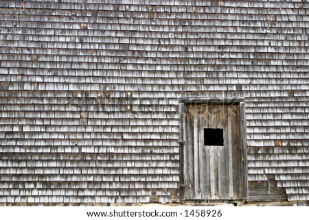 old house with wooden shingles - stock photo