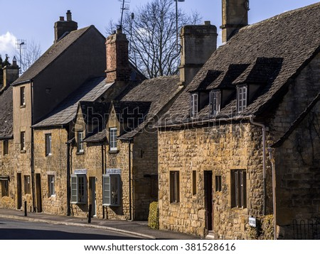 old houses high street chipping campden cotswolds uk