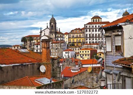 old houses in Porto / Portugal - stock photo
