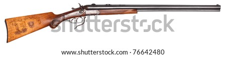 old hunting rifle - stock photo