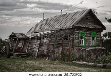 old hut - stock photo