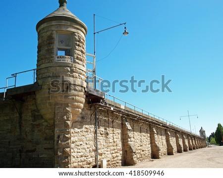 Old Idaho State Penitentiary in Boise Idaho USA - stock photo