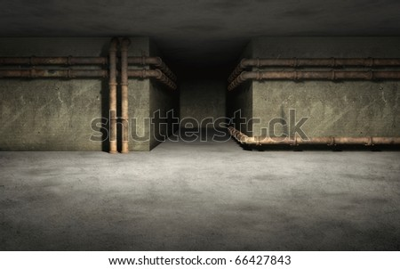 Old Industrial background with rust pipes