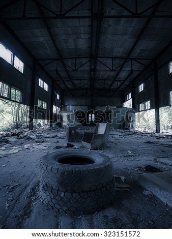 Old Industrial interior  - stock photo