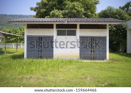 Old Iron Gate lawns. - stock photo