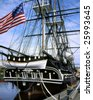 Old Ironsides, The U.S.S. Constitution In Boston Harbor, Massachusetts - stock photo