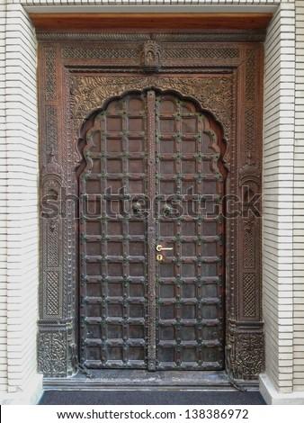 Old Islamic Door - stock photo