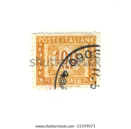 old italian stamp