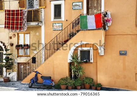 Old Italian style - stock photo