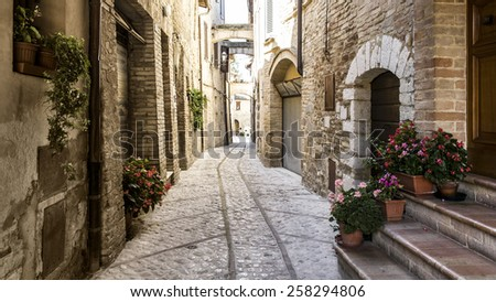 Old Italian town; photo taken in Tuscany.