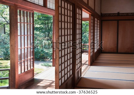 Old Japanese room - stock photo