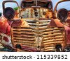 Old Junk Car beyond reparation - stock photo
