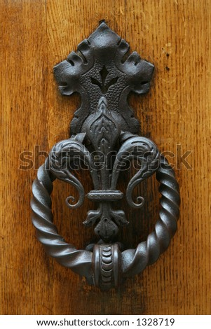 Old Knocker on wooden door