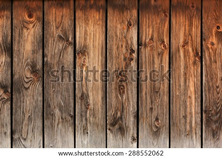 old knotted wooden planks texture - stock photo