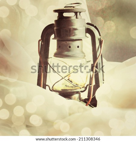 Old lamp. - stock photo