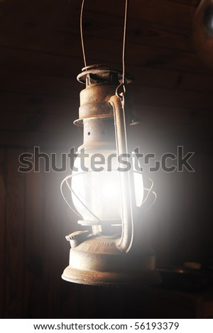 Old lamp lightning - stock photo