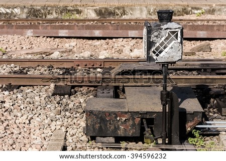 Light Old Railroad Signal Stock Images Royalty Free