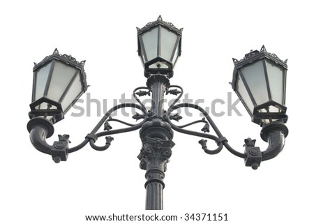 Old lamppost - stock photo