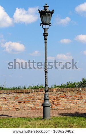 Old lamps on the Petrovaradin fortress in Novi Sad, Serbia