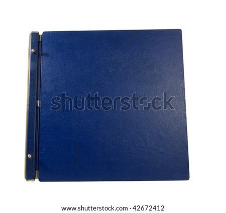 old large blue binder - stock photo