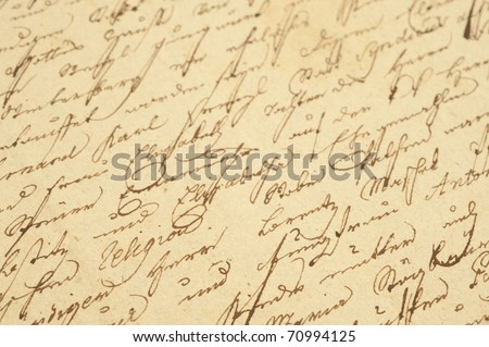 Old letter with vintage handwriting.