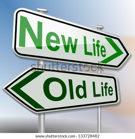 old life new life green - stock photo