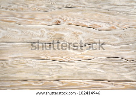 Old  light wooden board - stock photo
