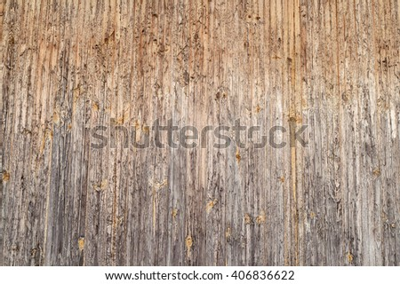 Old light wooden fence, background and texture - stock photo