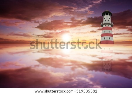 Old lighthouse. - stock photo