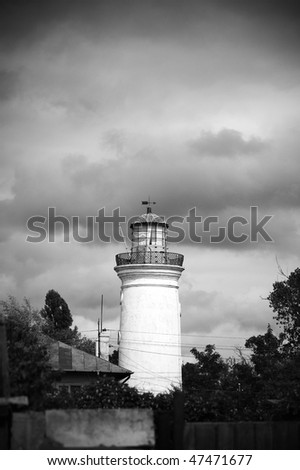 Old Lighthouse in Danube Delta