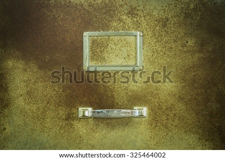 old Lockers for background yellow tone - stock photo