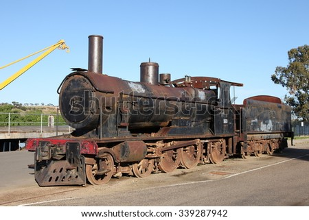Old Locomotive at Murray Bridge, South Australia