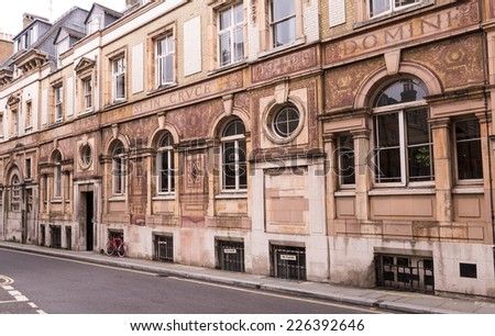 Old London Street with Roman Influence - stock photo