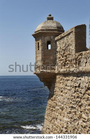 Old lookout post in Cadiz