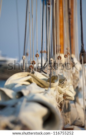 Old Luxury Yacht - stock photo