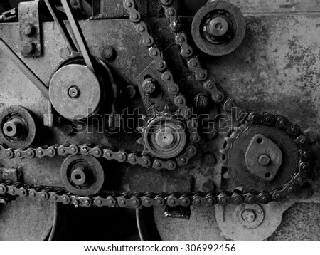 Old machine - stock photo