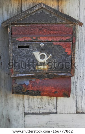 old mail box - stock photo