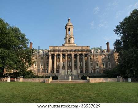 Old Main building at Penn State University - stock photo
