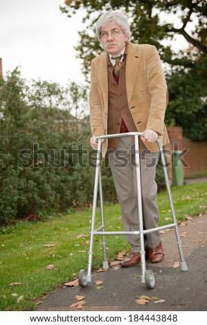 Old Man Walking Aid Stock Photo (Royalty Free) 184443848 - Shutterstock
