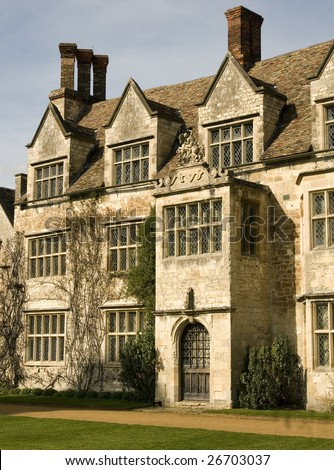 Old manor house / country house with bay windows, southern England