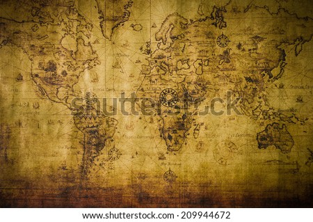 old map - stock photo