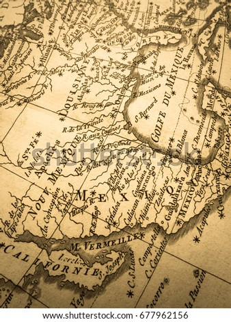 old map mexico and the southern part of the united states