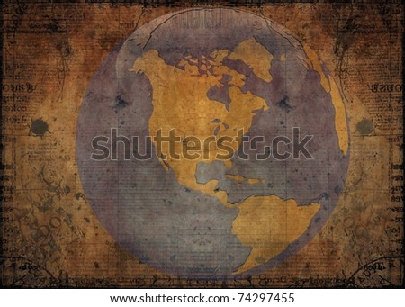 old map template - stock photo