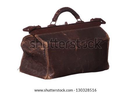 old medicine bag - stock photo
